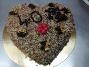 ořechový narozeninový dort