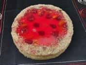 ovocný ořechový dort