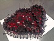 višňovo-čokoládový dort