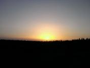 Západ slunce v Jeseníkách